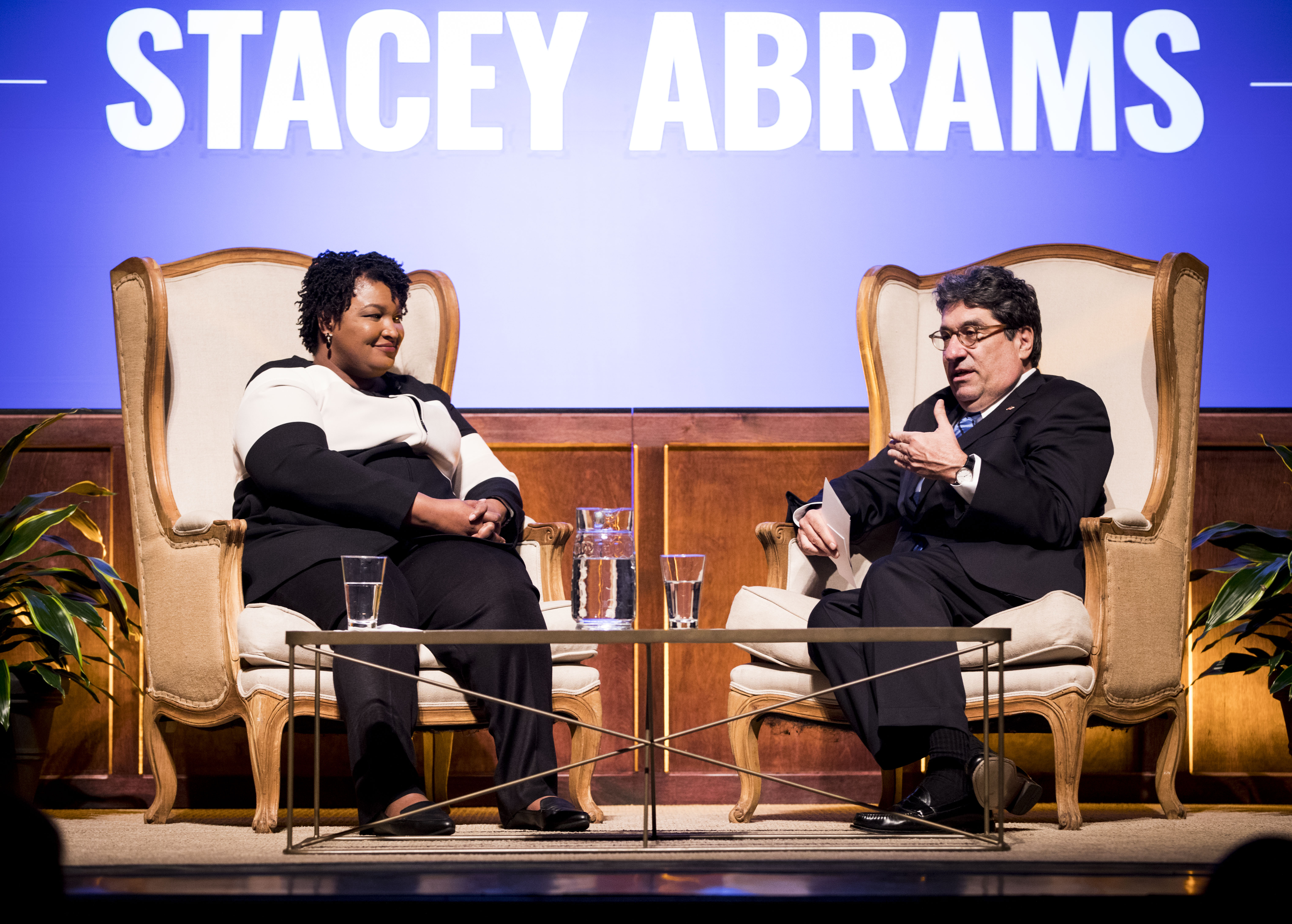 Chancellor Zeppos and keynote speaker, Stacey Abrams