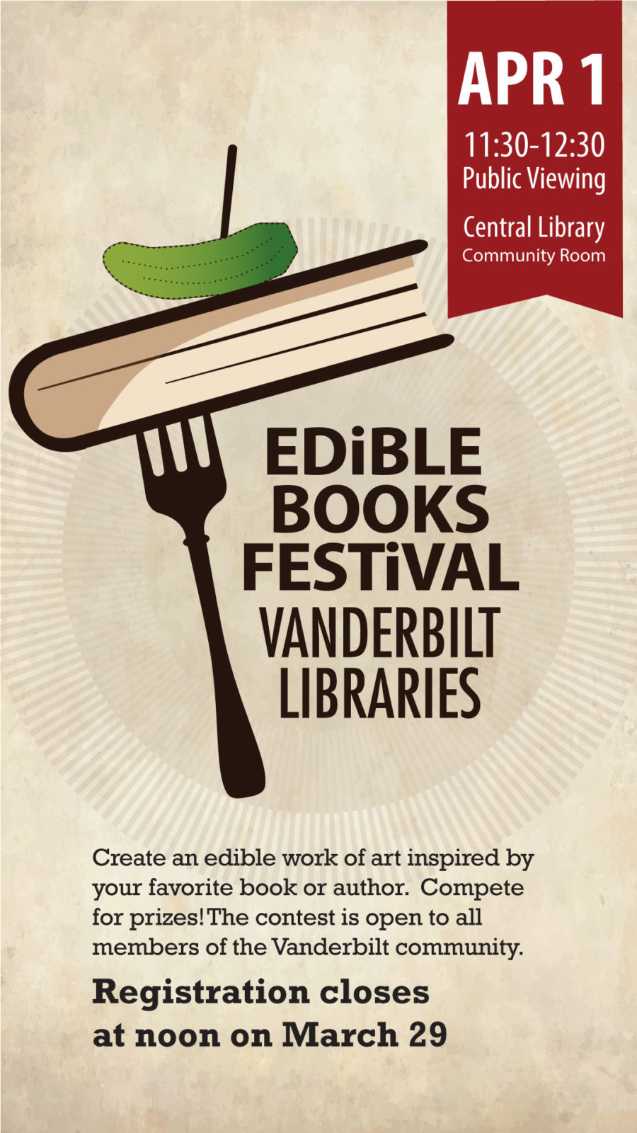 Edible Books Flyer