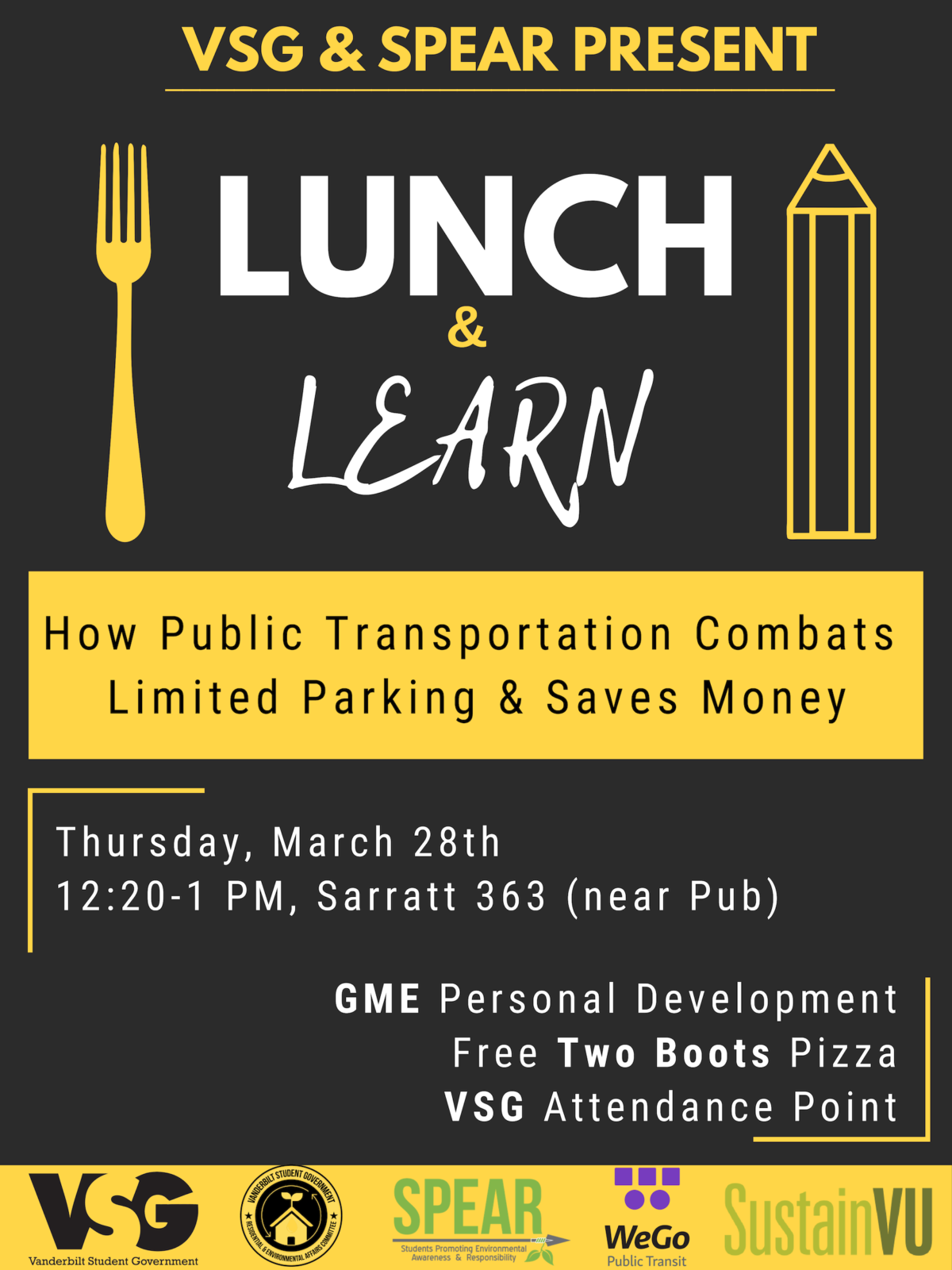 Lunch and Learn Public Transit Flyer