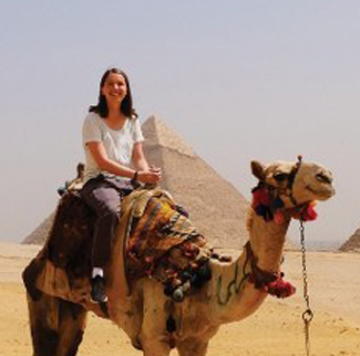Class of 2017 graduate Taylor Demonbreun in Cairo, Egypt.