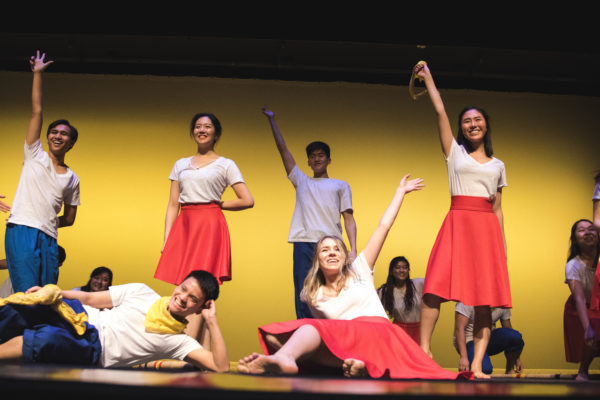 Students participating in Sayaw Sa Bangko (Christopher Hornbuckle)