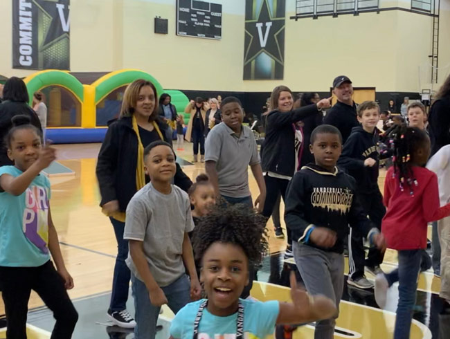 Vanderbilt employees and their families came out for the 2019 Fan Fest prior to the women's basketball game on March 3. (Vanderbilt University)