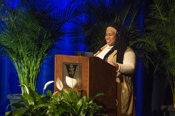 Equity, Diversity and Inclusion Presents Angie Thomas at Langford Auditorium. (Joe Howell/Vanderbilt)