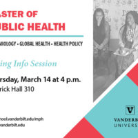 Master of Public Health spring info session poster