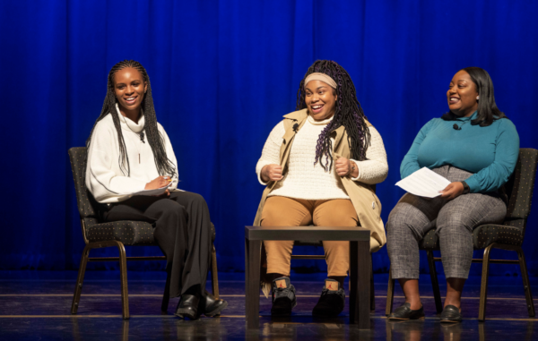 From Left to Right, Sydney Banks, Angie Thomas, Misha Inniss-Thompson