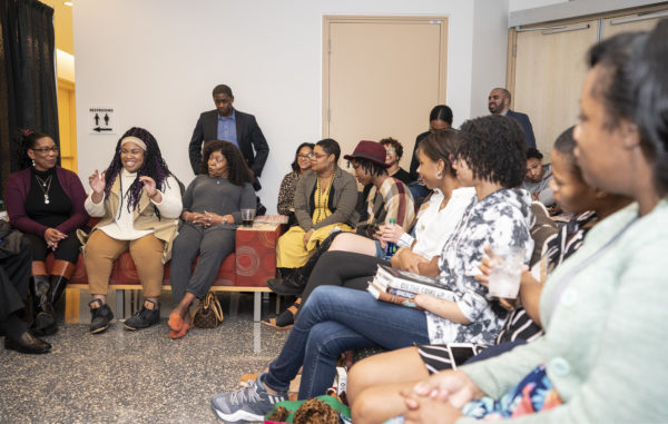 Equity, Diversity and Inclusion hosts intimate conversation with Angie Thomas for members of the Vanderbilt community after the lecture (Joe Howell/Vanderbilt)