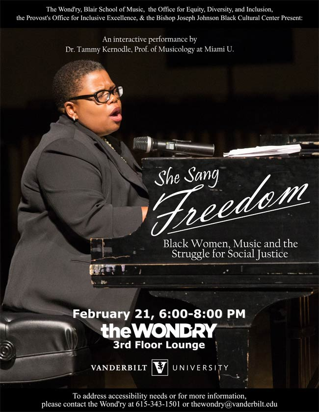"""She Sang Freedom"" poster"