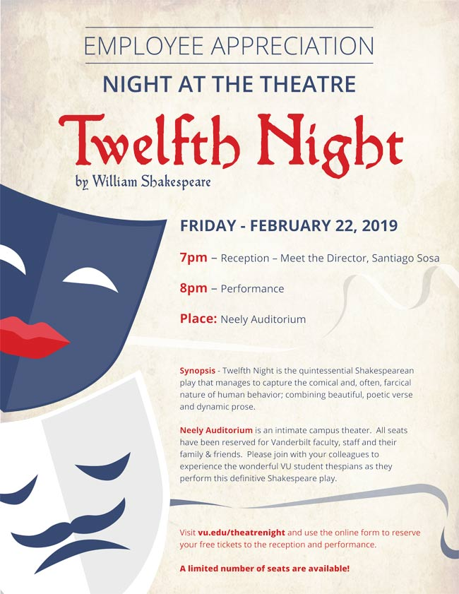 Employee Appreciation Night at the Theatre poster