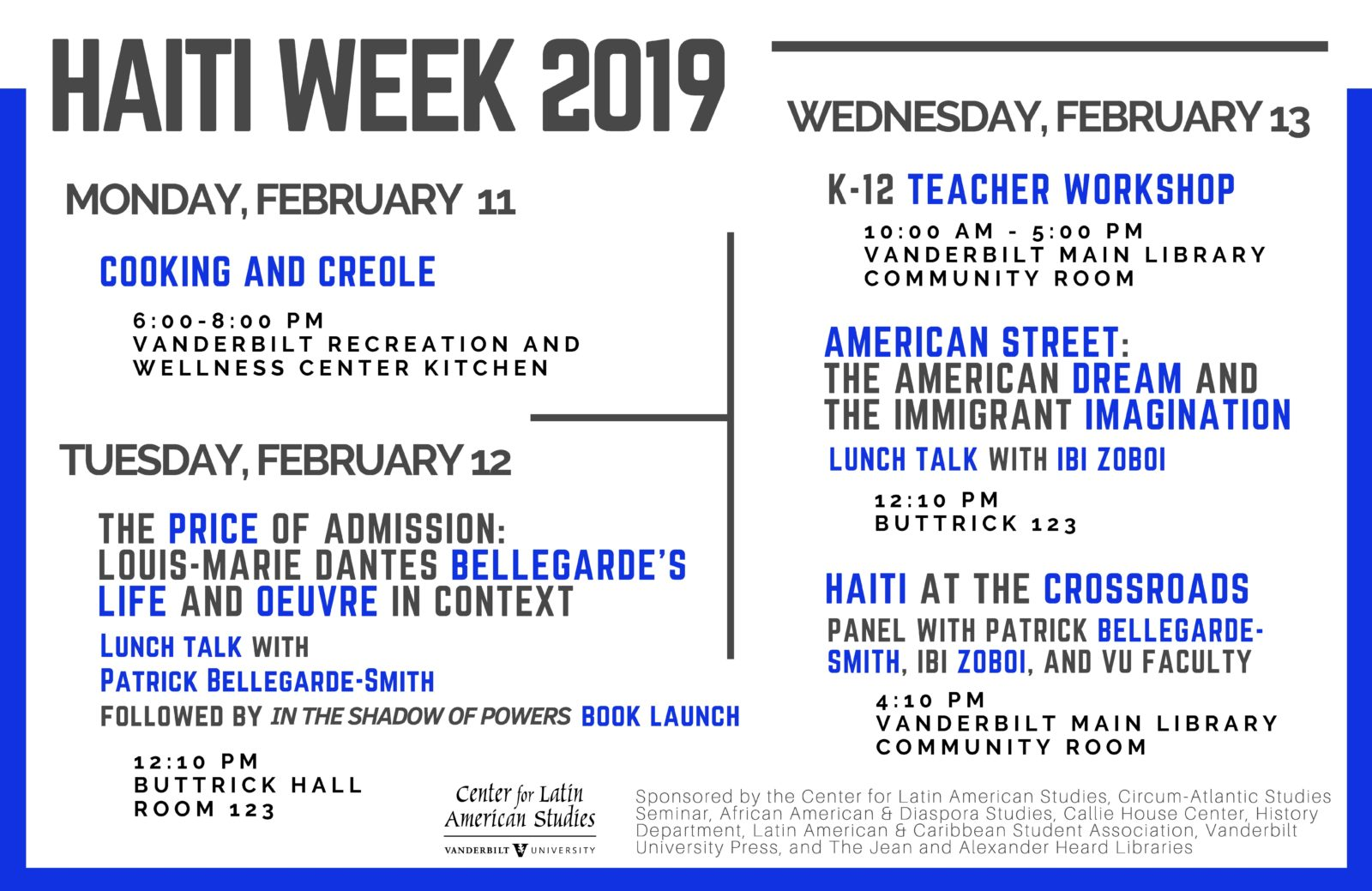 Haiti Week List of Events