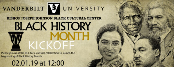 Black History Month Kickoff at noon on 2/1 at the BCC