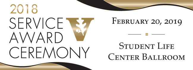 2018 Service Awards Ceremony is Feb. 20, 2019.