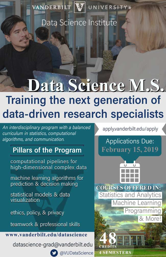 Data Science M.S. degree program flyer