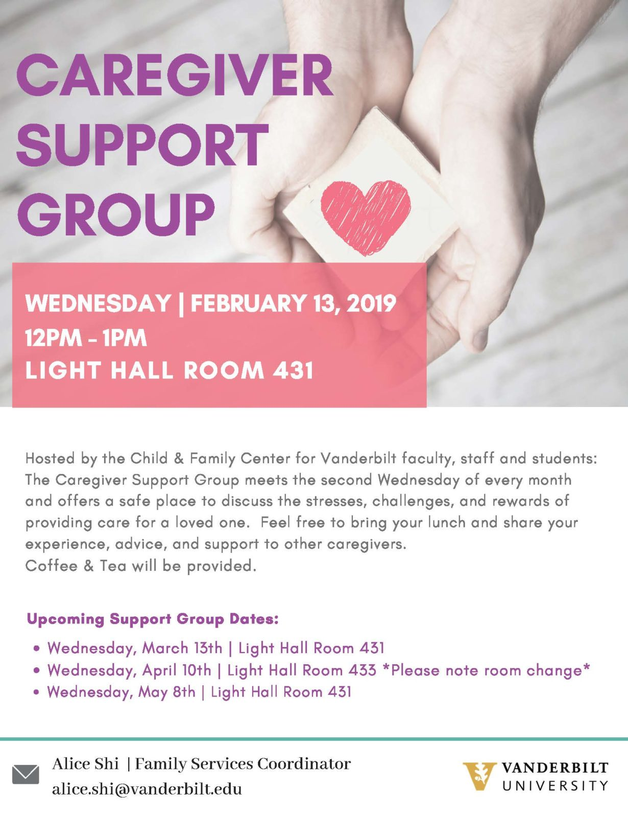 Caregiver Support Group event poster