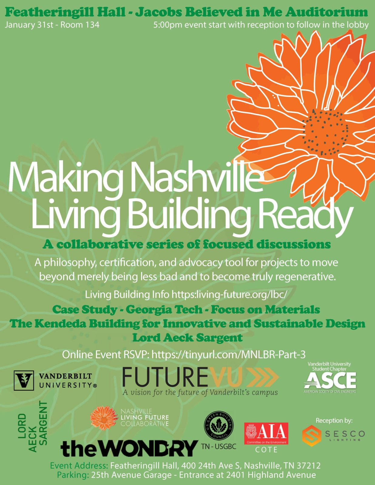 Living Building Lecture, Jan. 31