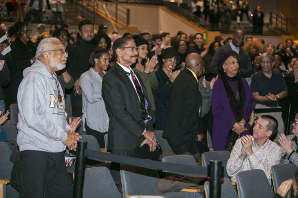 Freedom Riders in attendance being recognized (Anne Rayner/Vanderbilt)