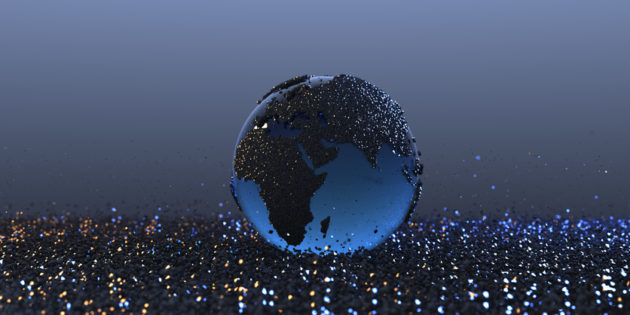 3D rendering of earth
