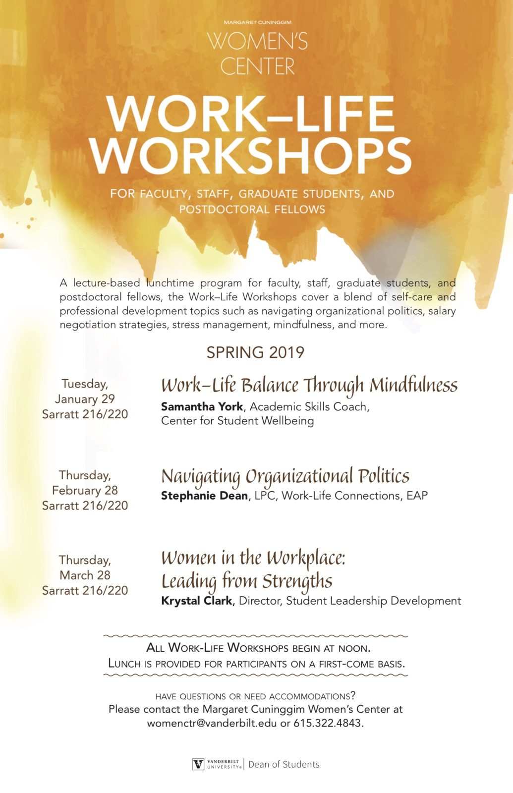 Poster for Work Life Workshop event