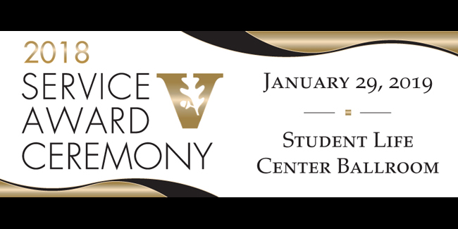 2018 Service Award Ceremony logo