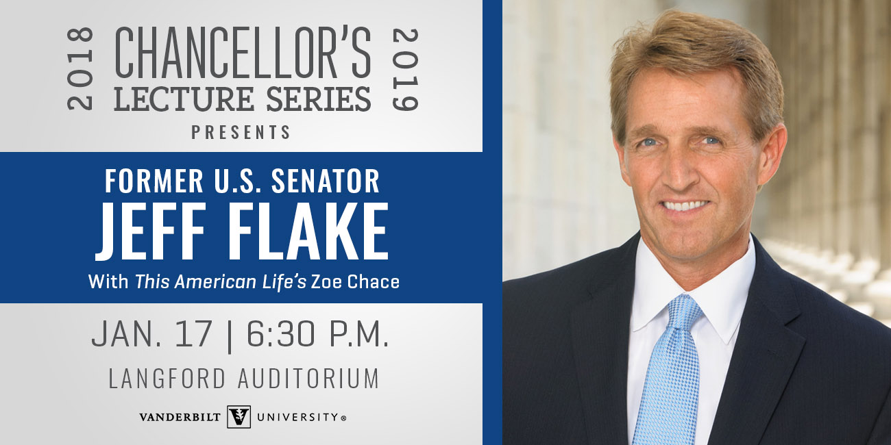 Chancellor's Lecture Series featuring Jeff Flake