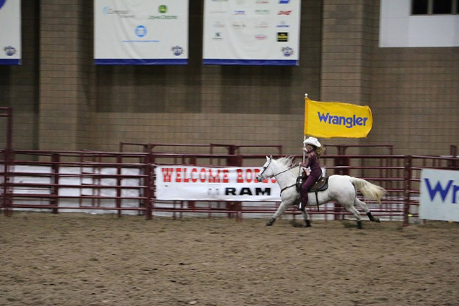 Kaitlyn Ayers, a biomedical engineering senior, and her horse, Cocoa, compete in the 2019 Miss Rodeo Missouri pageant. (submitted photo)