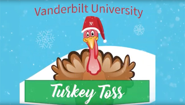Turkey Toss is an annual Employee Celebration event at Vanderbilt.