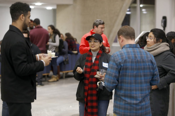 The Fisk-Vanderbilt Master's-to-Ph.D. Bridge Program recently held its annual mentor mixer at the Vanderbilt Engineering and Science Building. (Steve Green/Vanderbilt)