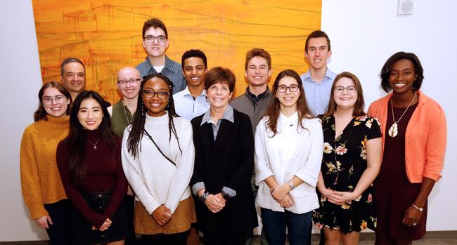 The second-year cohort of the A. James Clark Scholars for 2018-19. (Vanderbilt University)