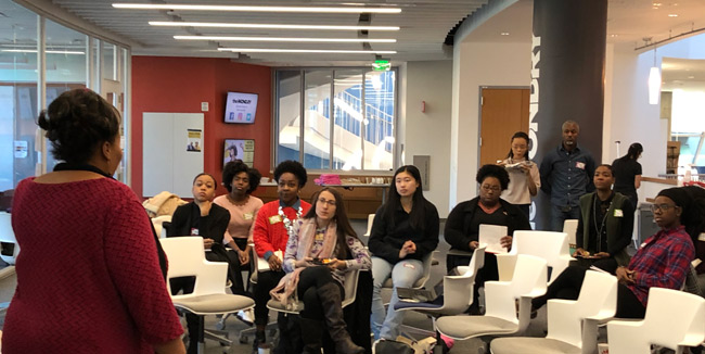 The inaugural cohort of Disruptive Women Lead convened at the Wond'ry Nov. 10. (Vanderbilt University)