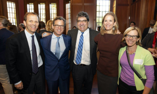 (L to r) John Ingram, Richard Patton, Chancellor Nicholas S. Zeppos, Robin Ingram Patton and Sarah Igo at the 'Bronson' Celebration (Joe Howell/Vanderbilt)