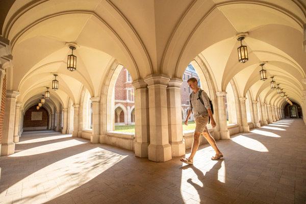Courtyard view of E. Bronson Ingram College. (John Russell/Vanderbilt)