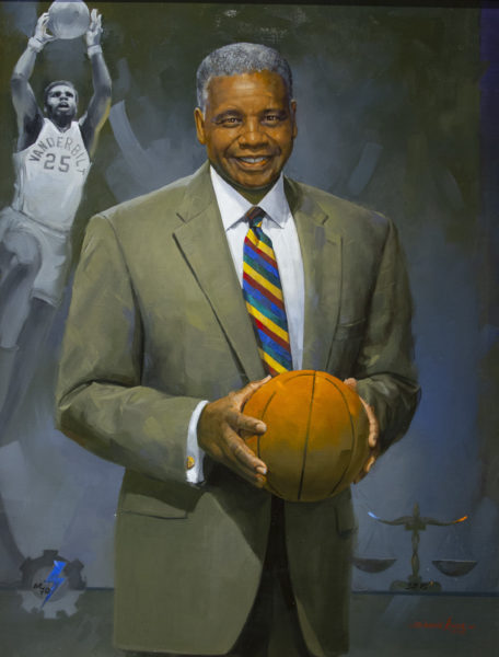 Vanderbilt Trailblazers. Portrait of Perry Wallace by Simmie Knox (Vanderbilt University/Joe Howell)