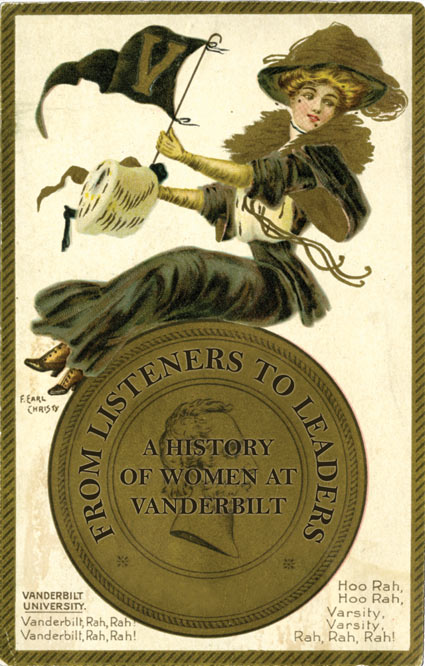 """Vanderbilt, Rah, Rah!,"" University Girls Series by F. Earl Christy. Published by Raphael Tuck & Sons, London, England. Postcard, 1907, Vanderbilt Memorabilia. (Vanderbilt University Special Collections and University Archives)"