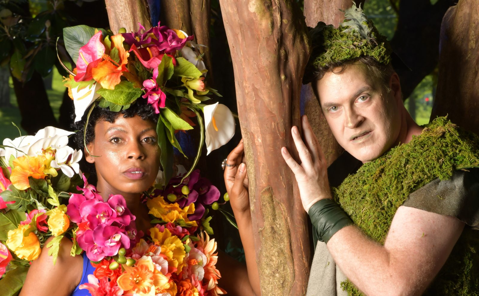 (L to r) Geoff Davin in the role of Oberon and Tamiko Robinson Steele in the role of Titania in 'A Midsummer Night's Dream' (Photo courtesy of Rick Malkin)