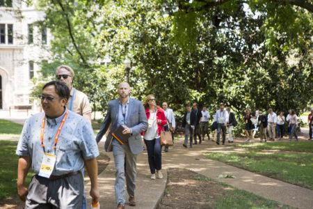 SCUP attendees tour campus. (Vanderbilt/Susan Urmy)