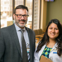 Christian Ketel, DNP'14, and Shelza Rivas, DNP'17, MSN'15, BA'12, earned their Doctor of Nursing Practice degrees at VUSN and are nursing faculty at the school. (Daniel Dubois/Vanderbilt)