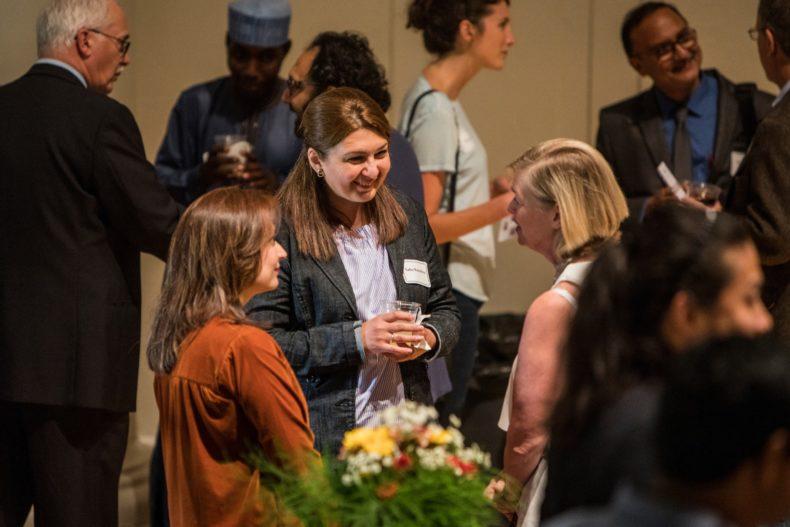 Humphrey Fellows and Friendship Families at Humphrey Fellowship reception.