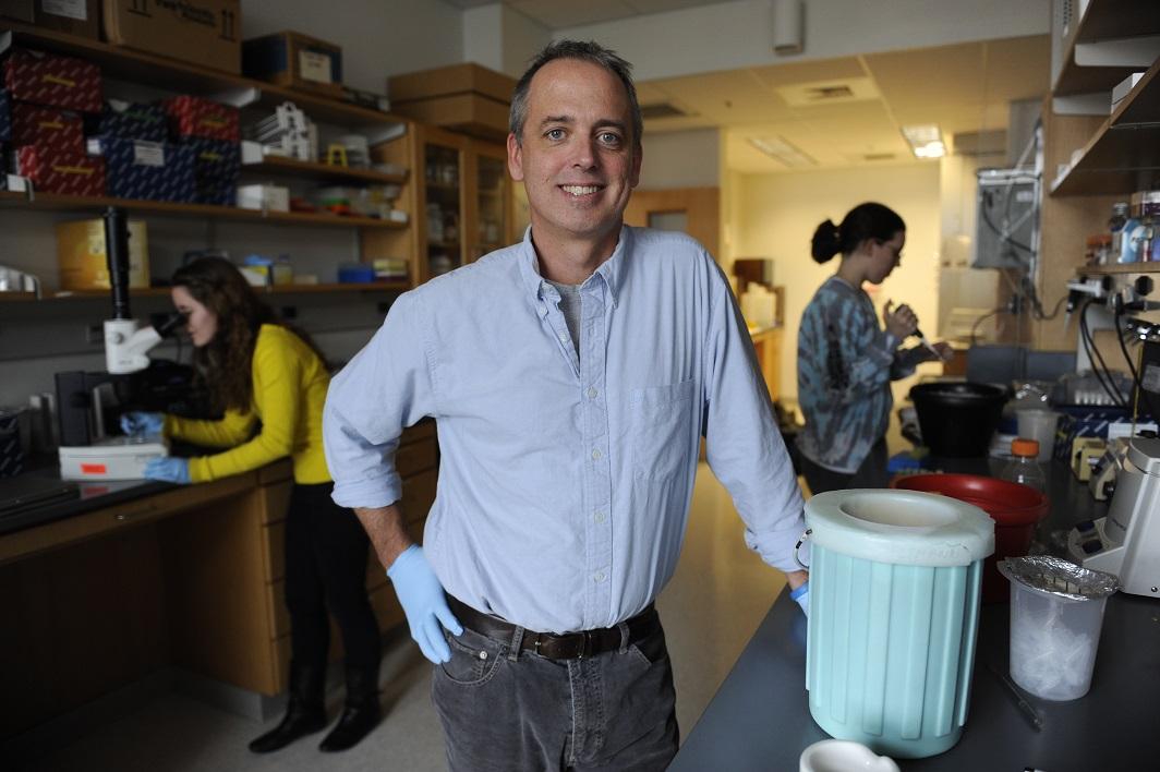 Patrick Abbot in Biological Sciences. (Joe Howell/Vanderbilt University)