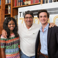 Vanderbilt Student Government President Jami Cox, Chancellor Nicholas S. Zeppos and VSG Vice President Ryan Connor. (Vanderbilt University)