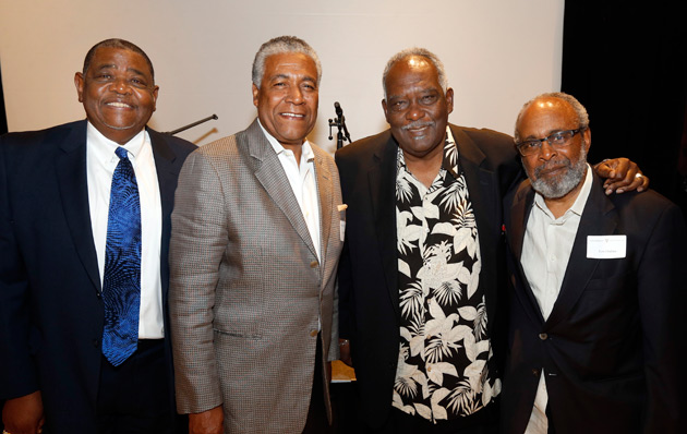L-r: Dennis Dickerson, Godfrey Dillard, David Williams and Lucius Outlaw (Steve Green/Vanderbilt)