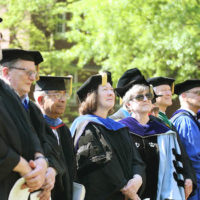 several professors in regalia