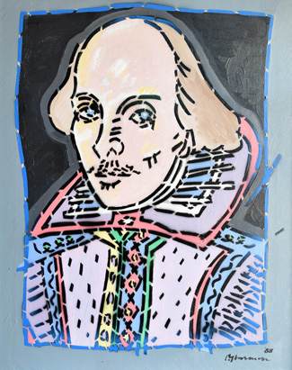 William Shakespeare (image by artist Paul Harmon)