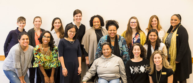 Peabody professor Anna Cristina da Silva spoke to 16 faculty members assembled on March 2 about how persistent pursuit of her writing goals combined with the ongoing support of mentors and colleagues helped her succeed in academia. (Vanderbilt University)