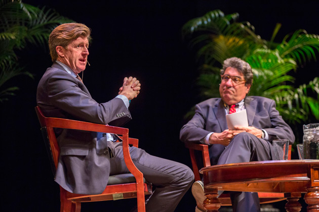 Patrick J. Kennedy (left) and Chancellor Nicholas S. Zeppos (Anne Rayner/Vanderbilt)