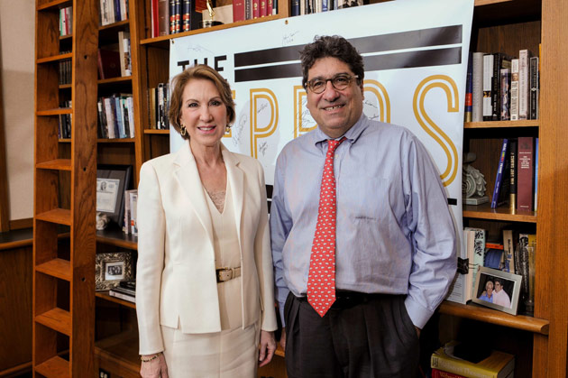 Carly Fiorina and Chancellor Nicholas S. Zeppos (Vanderbilt University)