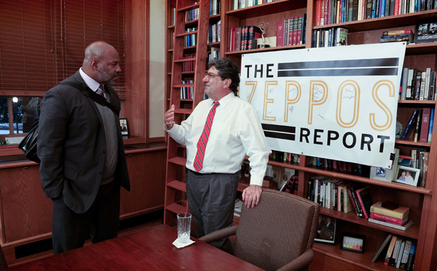Jelani Cobb, the Ira B. Lipman Professor of Journalism at Columbia University, and Chancellor Nicholas S. Zeppos. (Vanderbilt University)
