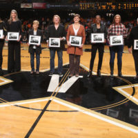 On Sunday, Feb. 4, Vanderbilt honored the university's 1992-93 women's basketball team and former head coach Jim Foster on the 25th anniversary of the team's record-breaking season. The squad remains the only Vanderbilt team—men's or women's—to reach a Final Four. (Vanderbilt University)