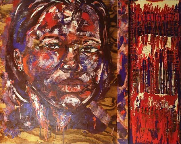 """Blueprint 2,"" painting by Omari Booker"