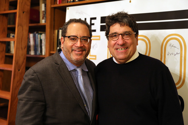 Michael Eric Dyson and Chancellor Nicholas S. Zeppos (Vanderbilt University)