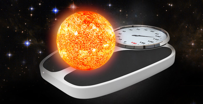 composite image of a star sitting on a bathroom scale