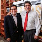 Former U.S. Attorney General Alberto Gonzales and Chancellor Nicholas S. Zeppos (Vanderbilt University)